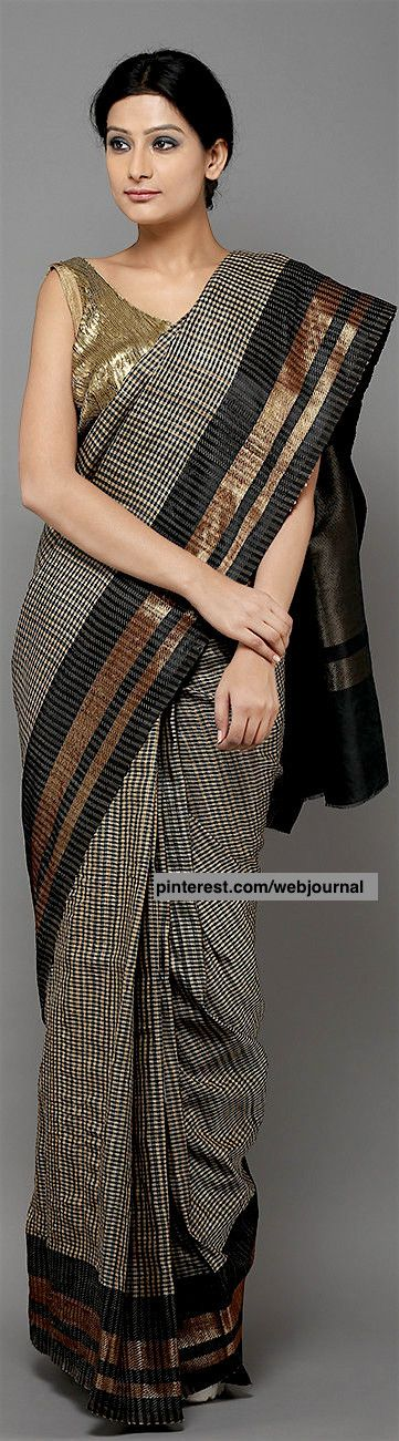 Handwoven Banarasi tussar saree from theloom.in