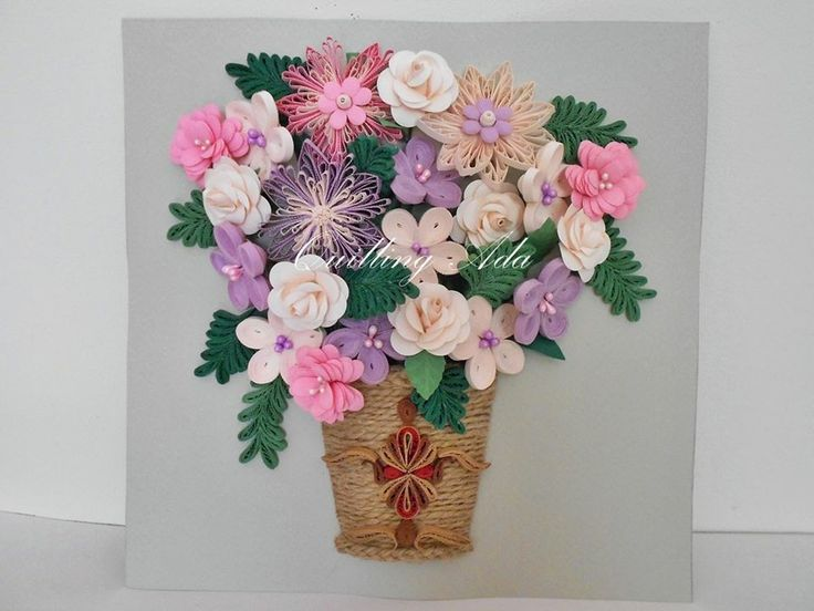 Beautiful Vase Of Quilled Paper Flowers