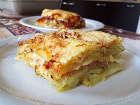Parmigiana di patate con prosciutto e formaggio: facilissima da fare e squisita. - VIDEOLANDIA