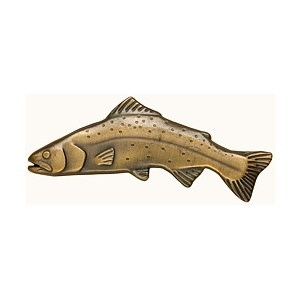 Big Sky Trout Brass Drawer Handle