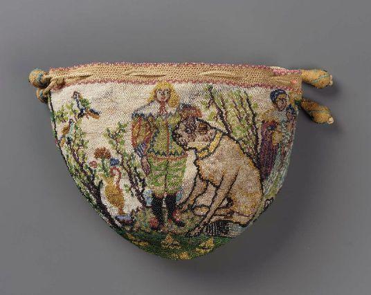 Drawstring bag French ca. 1625-1750
