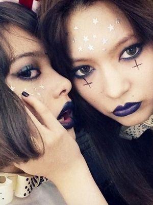 ハロウィン メイク 可愛い 簡単 100均 魔女 2016