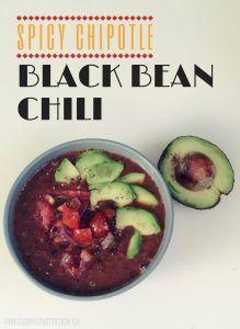 Spicy Chipotle Black Bean Chili!