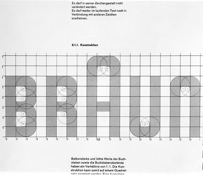 weare1910: Braun logotype construction - ...