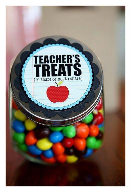 teacher's treats (with printable) Love it!