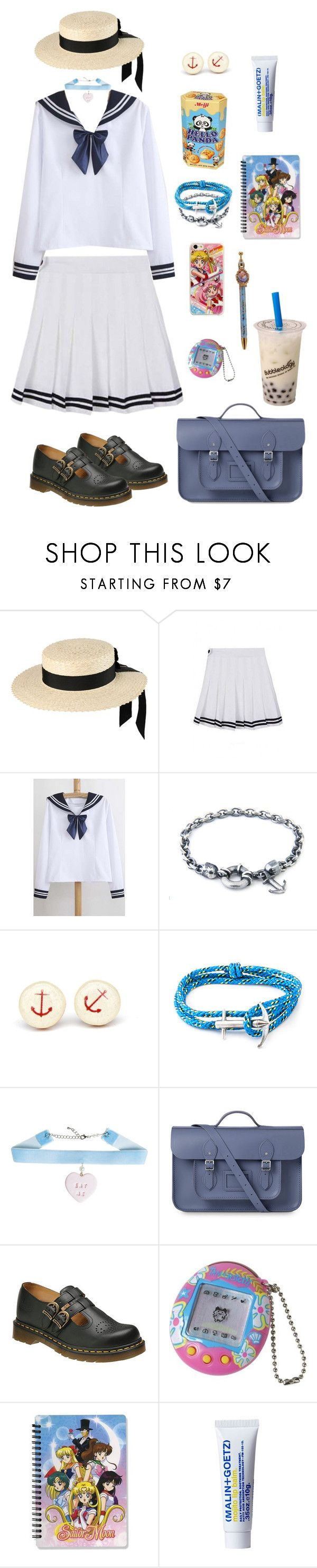 """""""ddlg sailor outfit ideas"""" by brokenbabydolly ❤ liked on Polyvore featuring Mich Dulce, WithChic, Anchor & Crew, The Cambridge Satchel Company, Dr. Martens, (MALIN+GOETZ) and Samsung"""