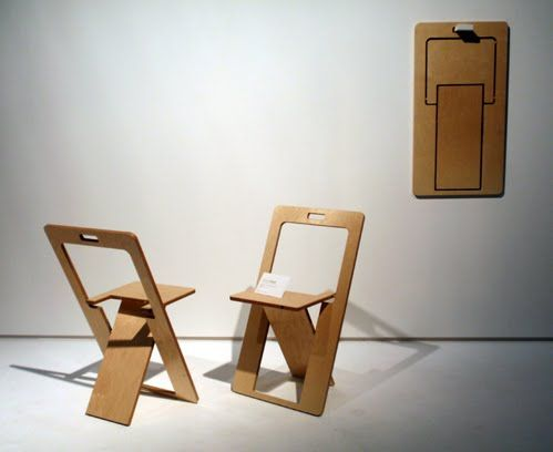 Foldable Chair Design Hang On Wall   Google Search