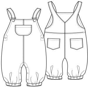 Navega por los patrones ropa bebes Jardinero Bebe 0123 BEBES Enteritos