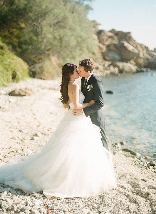 Breathtaking wedding in Mykonos | Melody & Mike - Love4Wed #lazaroweddingdress