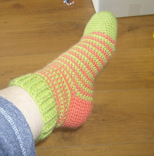 sokken haken   En met deze ben ik nu bezig.