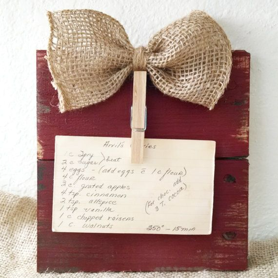 """7"""" x 7"""" - What a perfect gift to give, or receive this year! This pallet board holder can be used for so many every day uses such as a cute picture frame $12"""