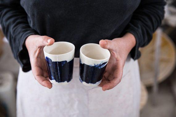 Espresso Cup Set de 2 tasse dEspresso en par 1220CeramicsStudio