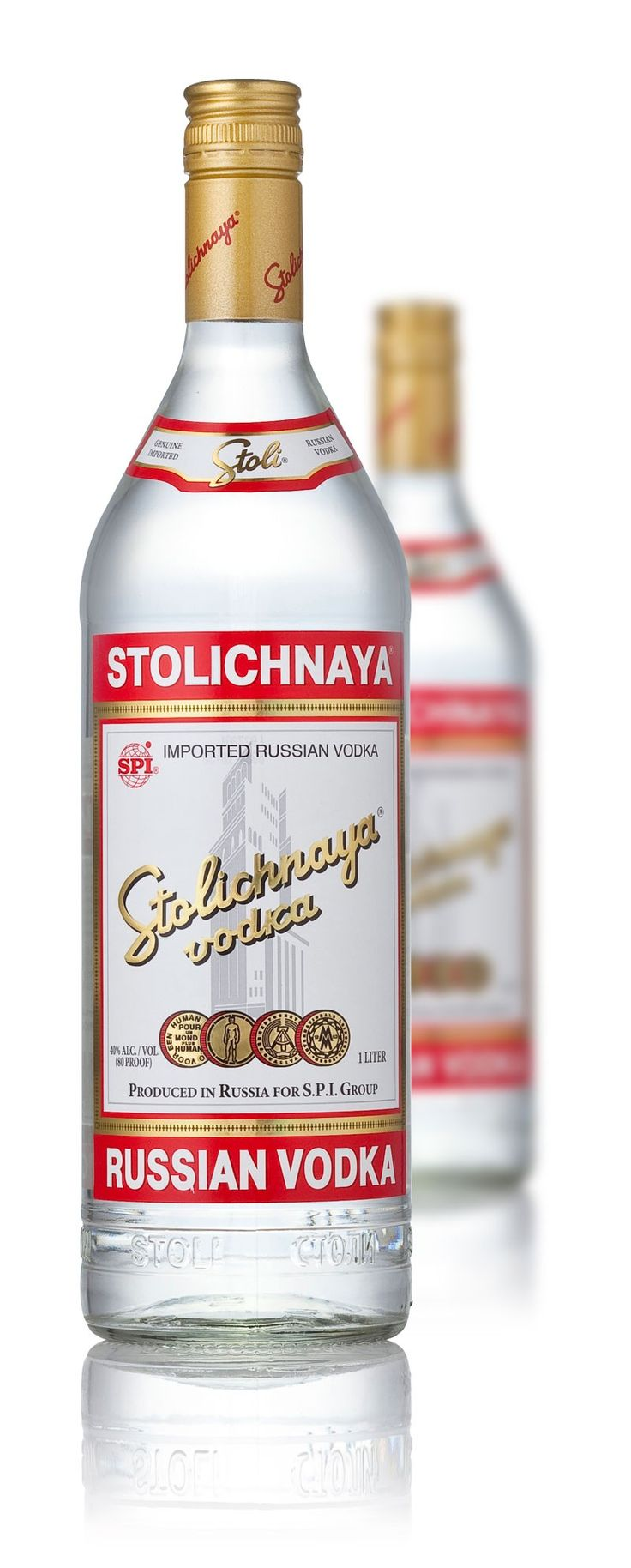 Stolichnaya Russian Vodka (1 Litre) (Vodka)