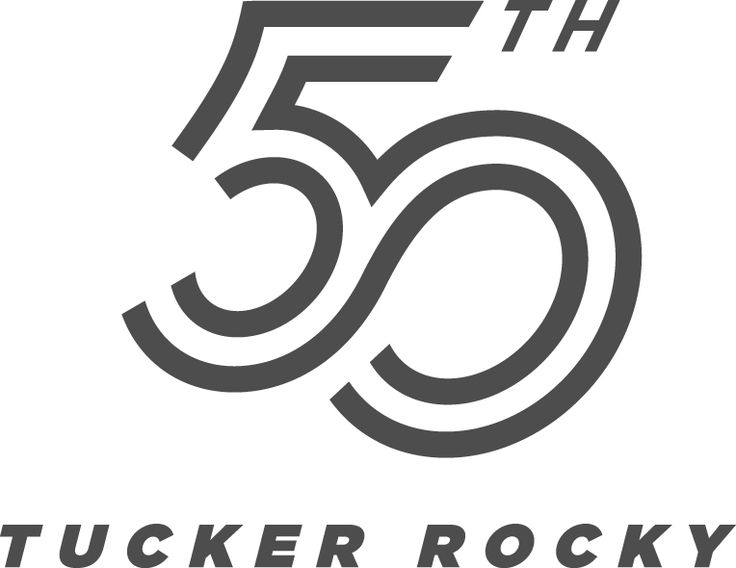 Tucker Rocky 50th Anniversary Logo