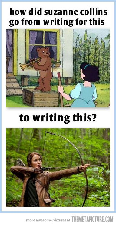that awkward moment when suzanne collins wrote little bear and hunger games.