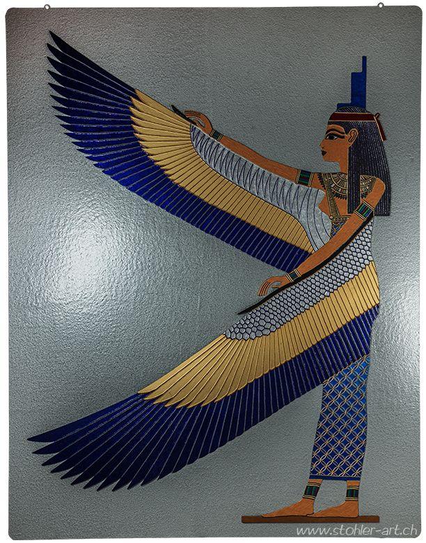 Goddess Isis - Göttin #Isis; Metal - Metall, 130 x 100 cm, 33 kg, 2010; #art, #Kunst #egyptian