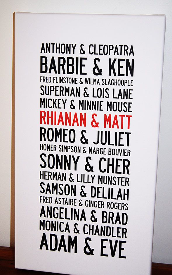 How many Famous names can you come up with as iconic couples? This list spans millennia! Wow.