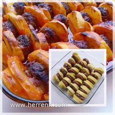 Patates Dizmesi-ana yemek,fırın yemekleri,davet yemekleri,köfte yemekleri,patatesli köfte,az masraflı,ucuz köfte,köfte yemeği çeşitleri,ucuz yemek tarifleri,köfteli patates,fırında patates köfte,tarif,tarifi,yemeği,