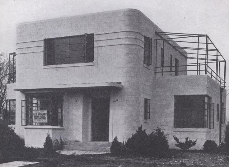 198 best images about moderne architecture on pinterest for Streamline moderne house plans