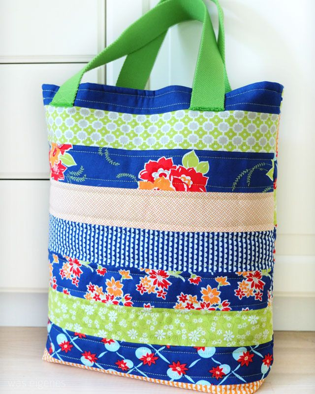 Nähanleitung Jelly Roll Tote Bag | Patchworkbeutel | sewing project | crafts idea | tutorial | DIY | gifts | was eigenes Blog