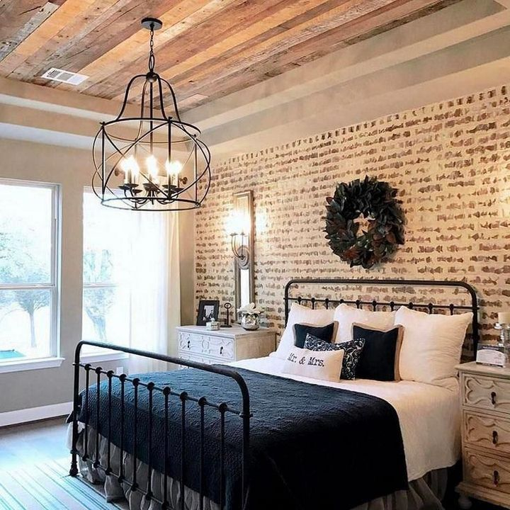 95 Lighting Ceiling Bedroom Ideas For Comfortable Sleep 5 Trendy Bedroom Lighting 78 B In 2020 Farm House Living Room Rustic Farmhouse Bedroom Rustic Master Bedroom