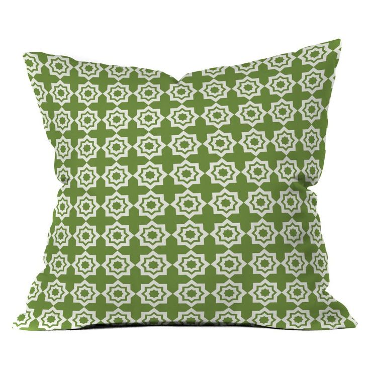 DENY Designs Khristian A Howell Moroccan Mirage Green Throw Pillow - 13016-OTHRP16