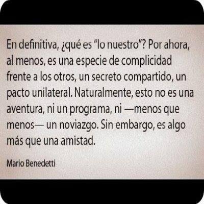 """Buena pregunta.... """"Qué es 'lo nuestro'?""""~ #Benedetti"""