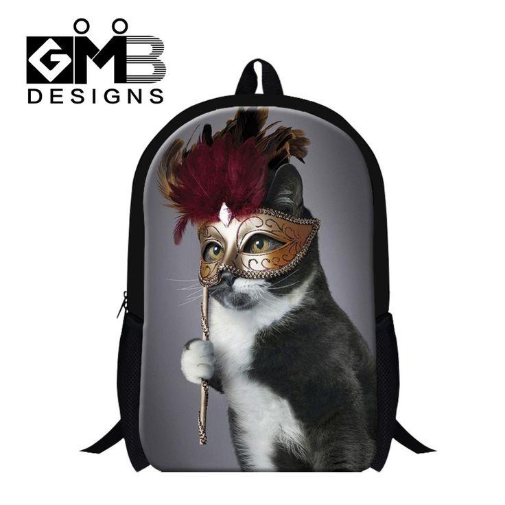 Cool Cat King school backpacks for boys,fashion bookbag for children,Girls leisure backpacking,stylish back pack lightweight