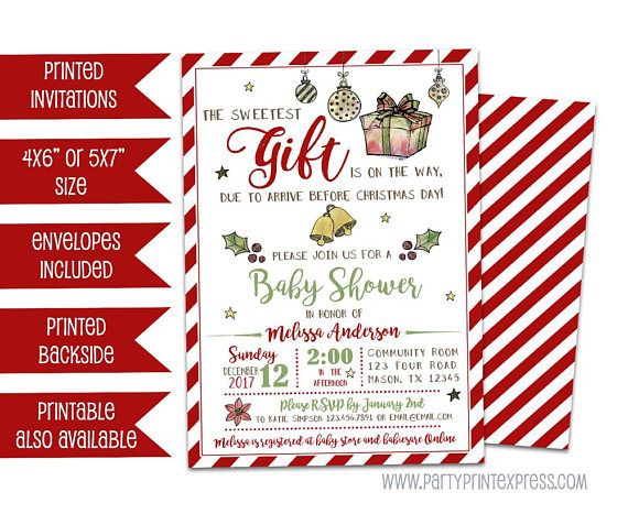 Baby Shower Invitations, Invites, Christmas Invitations, Face, Stock  Options, Candy Cane, Gender Neutral, Holiday Cards, Christmas Baby Shower