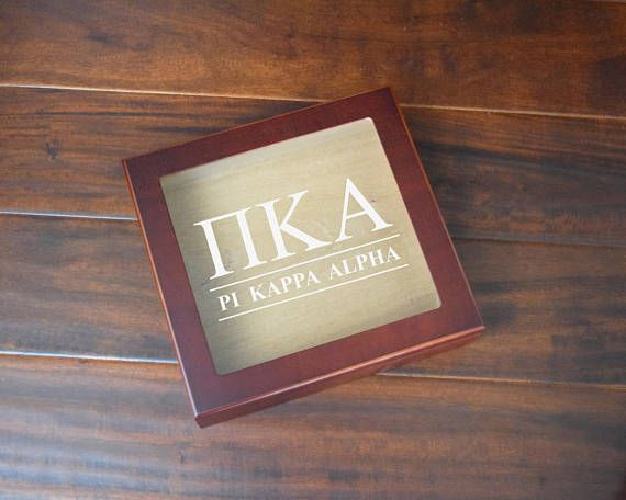 Pi Kappa Alpha Fraternity Humidor  Letters and Name  ΠKA