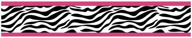 Pink Zebra Wall Border