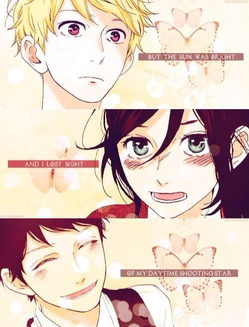 Hirunaka no Ryuusei / daytime shooting star quote (love it ) . The quote that makes me cry :(