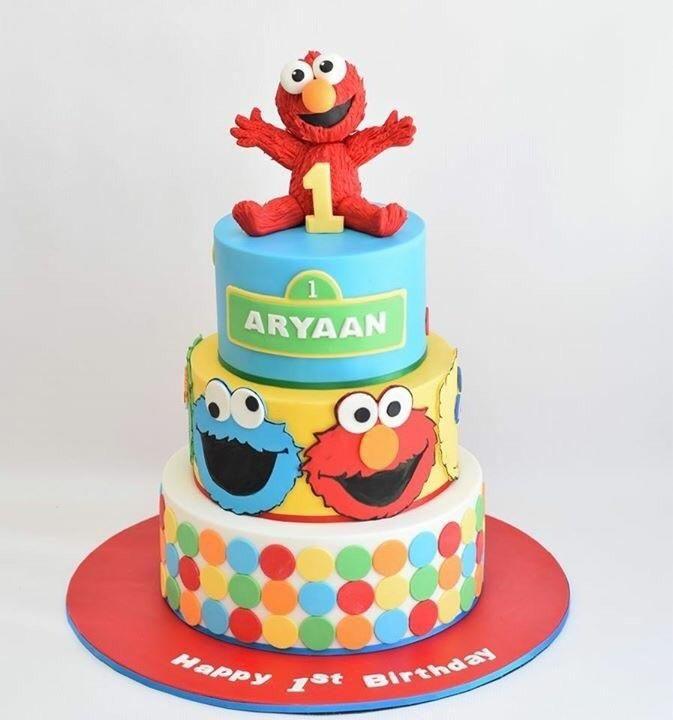 Sesame Street theme cake Cake by Cakes for mates Sesame Street