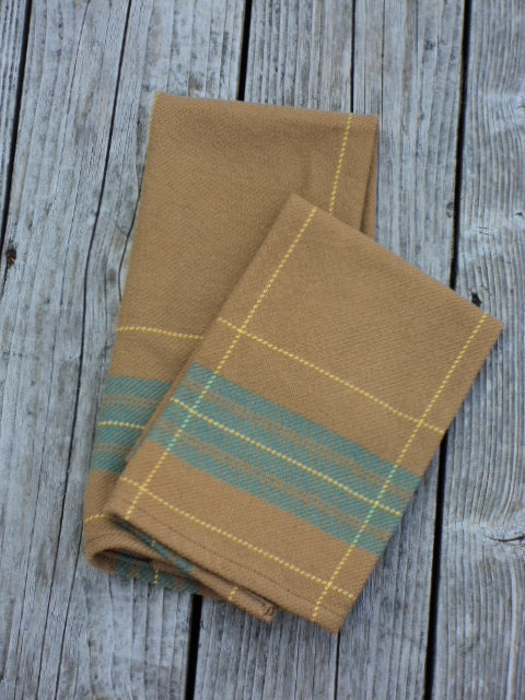 Butterscotch Hand Woven Kitchen Towel By Sunrisehandwovens