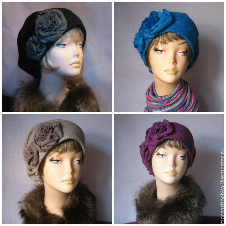 """Купить """"Вишневая терракота"""" шапка - стильный аксессуар, терракотовый цвет, вишневый цвет, большой размер"""