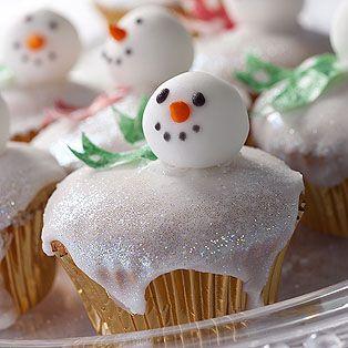 Snowman cupcakes! cute