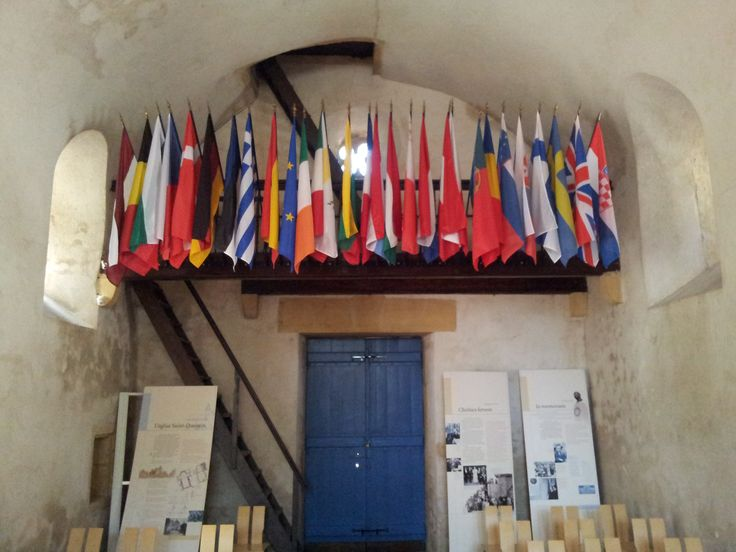 Flags of Europe in the St. Quentin church, Scy Chazelles