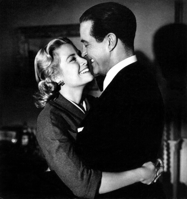 """Grace Kelly and Ray Milland during filming of """"Dial M for Murder"""" (1954)"""