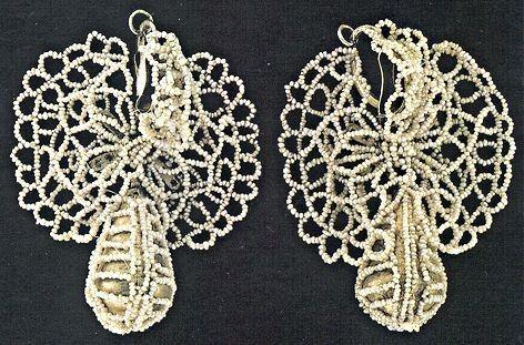 Butterfly earings. River pearl. Olonets, Russia.