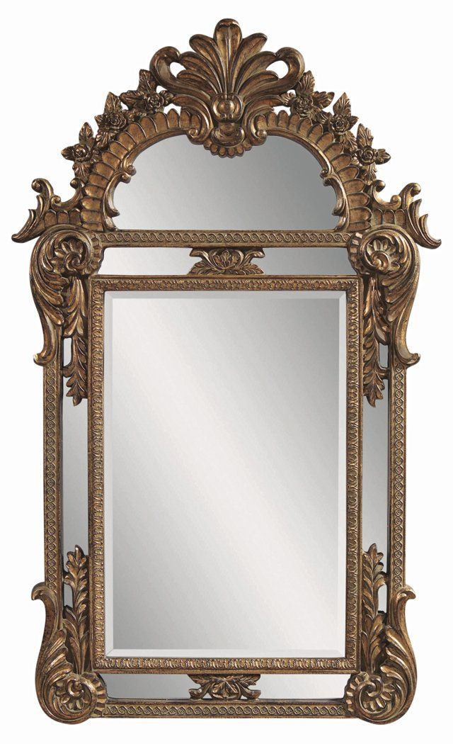 Traditional Floor Mirror, Gold