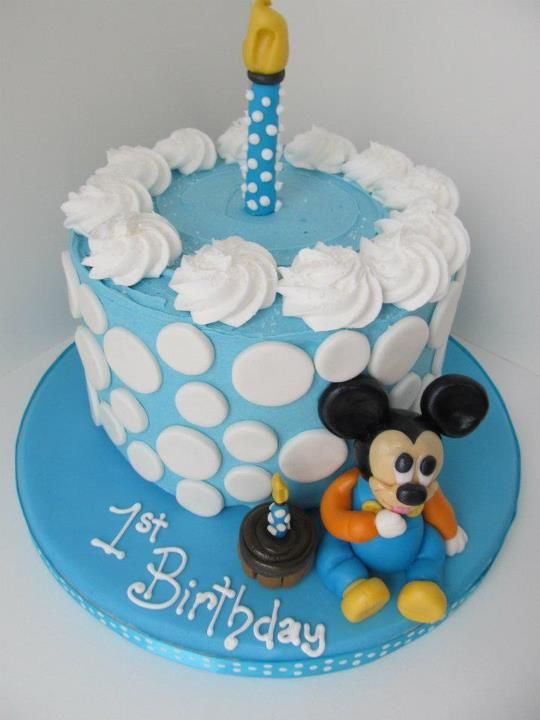 Baby Mickey Mouse 1st Birthday Smash Cake Cakes By Hunny
