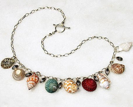 Seashell Jewelry | item 0515 seashells necklace sold genuine seashells sterling silver ...