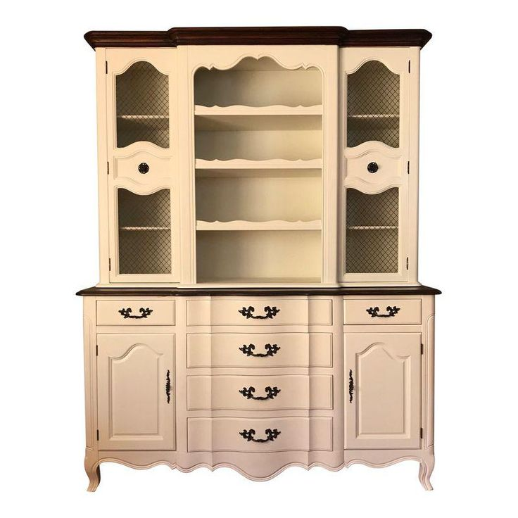 Restored Fancher Off-White China Cabinet | White dining ...