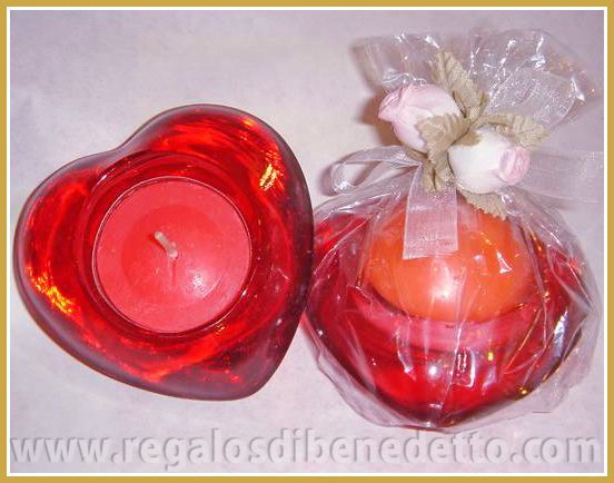 Porta velas de cristal con forma de corazón. #Detalles #Bodas #Wedding #Details