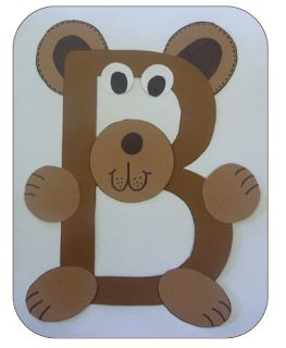 "We super love this letter craft idea. It helps toddlers learn the alphabet quickly and also provides them lots of entertainment when creating their own ""animal letters."""