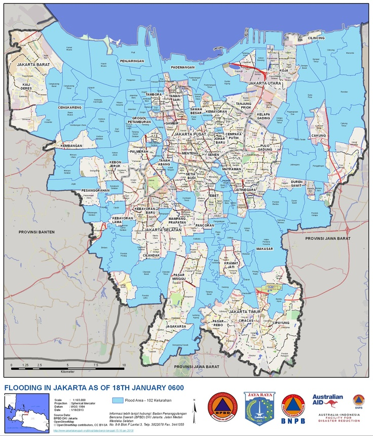 Mejores 121 imgenes de indonesian map yusikom en pinterest a map of fridays flooded areas in jakarta 1182013 http gumiabroncs Images