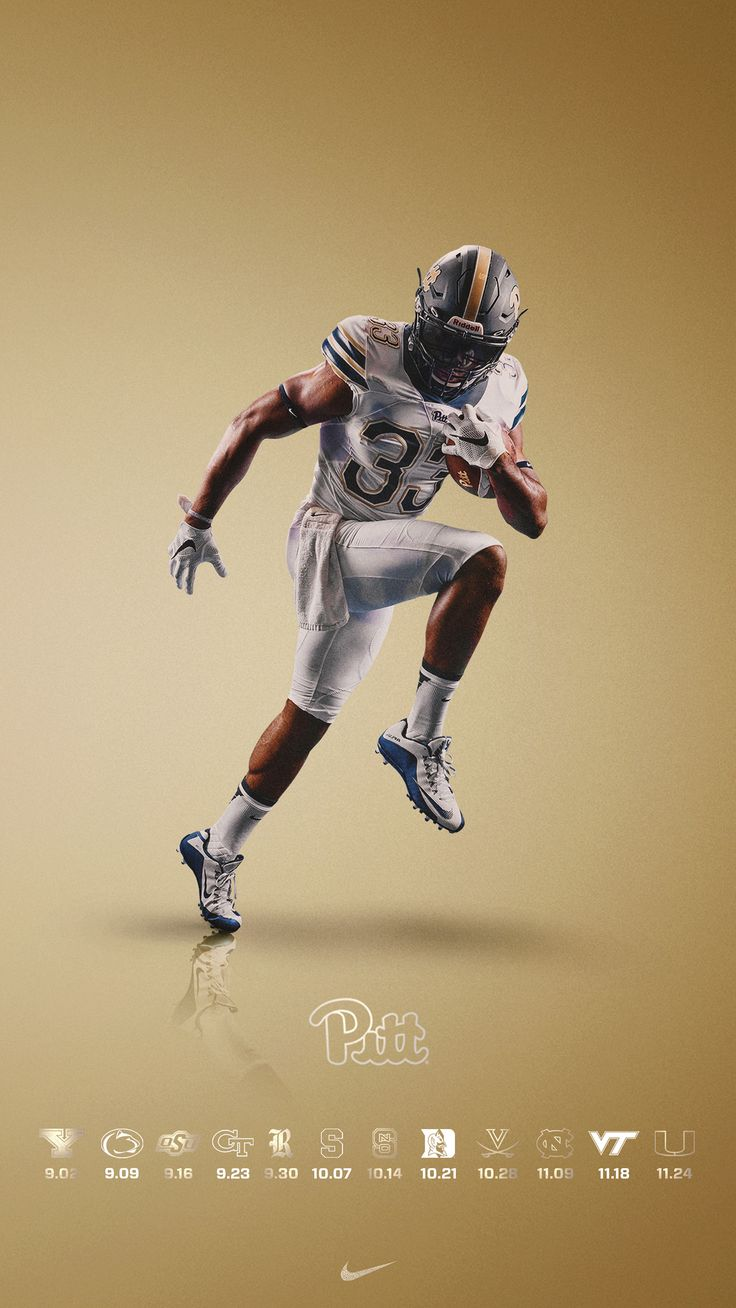 2017 Pitt Football Schedule - Phone Background on Behance