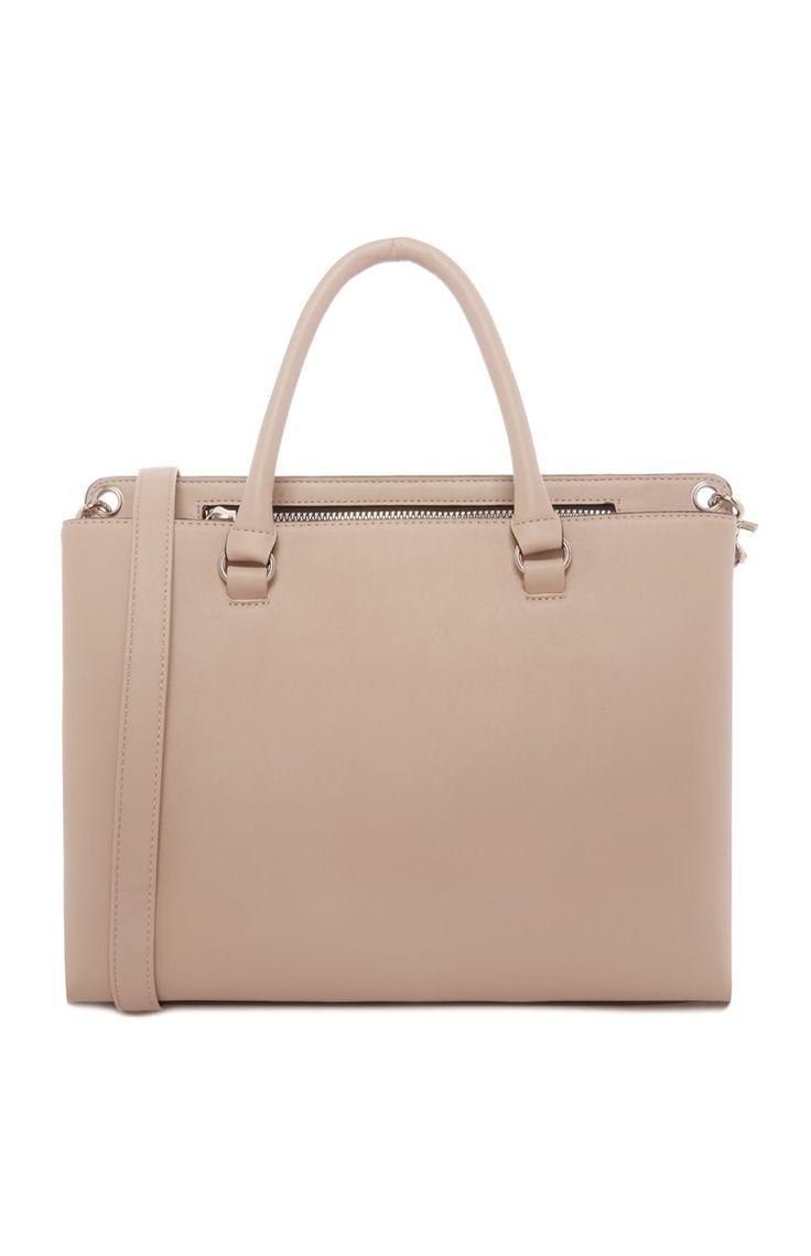 Nude Zip Tote Bag £9