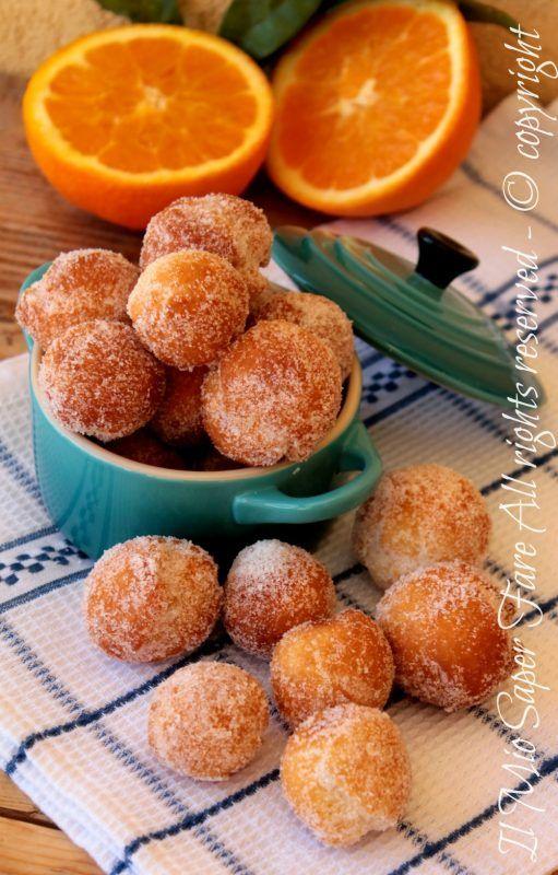 Castagnole ricette facile all'arancia e formaggio spalmabile il mio saper fare