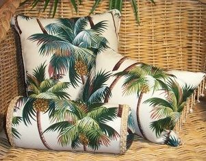 For the lanai... maybe....tropical fabrics for window treatment | Hawaiian-pillows.jpg